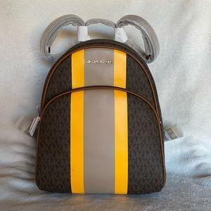 NWT Michael Kors Abbey Medium Brown Backpack